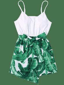 Vestido S Hoja De Cami Palma De Verde qYq7rOxZw