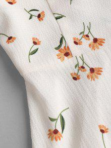 Un Floral Vestido Shoulder L Off De The qZvzxSnS