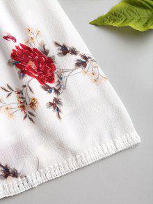 Floral Sun Cami De Con Blanco S Mini Estampado Minivestido nwFaxY