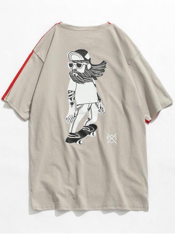 Rücken Druck Vorderes kurzes Rücken Langes T-Shirt - Liebes Rot M
