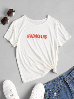 Famous Print Graphic Tee - White M
