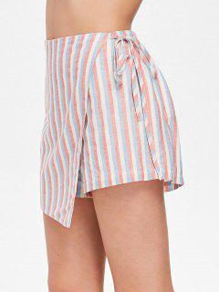 Stripes Tied Skorts - Pink M
