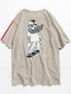 Back Printed Front Short Back Long T-shirt - Love Red M