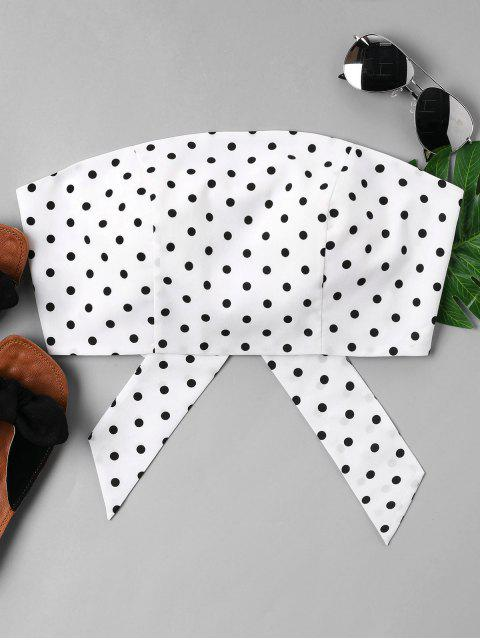 unique Polka Dot Strapless Top - WHITE XL Mobile