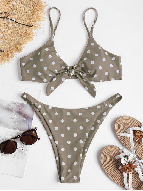 Nudo Polka Dot String Bikini - Caqui Claro L Mobile