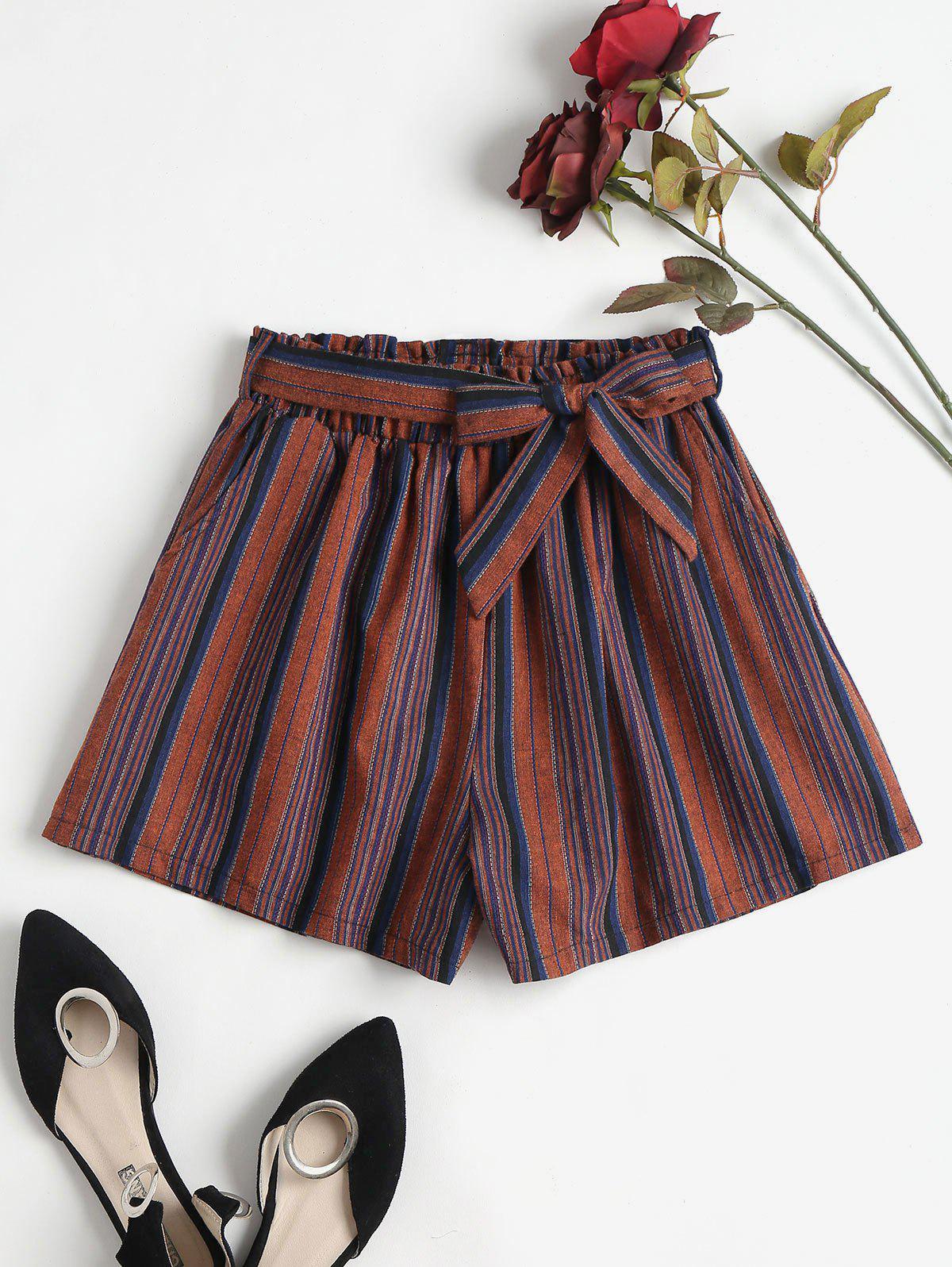 Stripe Paper Bag Shorts