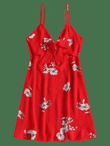 Vestido Frente Amo Cami Minifalda M Floral Frente Rojo Y De Con Al 16nw1rIxgq