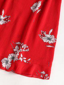Y Frente Cami M Floral Vestido De Con Rojo Al Frente Minifalda Amo 8nXgTOq