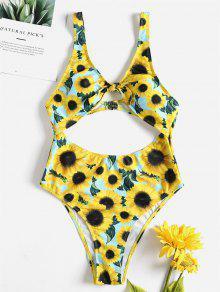 عباد الشمس السامي قص عقدة ملابس السباحة - الأصفر L