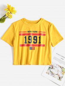 العلم الأمريكي الوطني المحملة المحمله - المطاط الحبيب الأصفر M