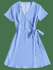 Celeste Lunares De Vestido Mini Abrigo S pzIwqnxfwH