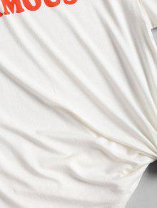 Camiseta S Famosa Estampada Blanco Estampada 1q1vwO