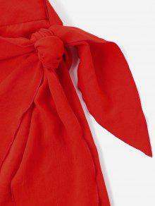 L Amo Con Dos Rojo Cuello Vestido De Piezas Vuelto q78t4w