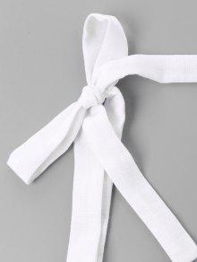 Bowknot De 243;n L Corte Twist Pomp Vestido Blanco Ax7qaBwBE