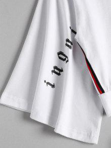 Sweat Sporty Shorts Blanco Top M Side Suit Stripe wSqnvwIZ