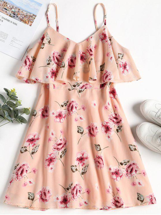shops Overlay Floral Cami Dress - PINK BUBBLEGUM XL