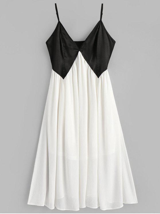 Vestido Cami de dos tonos - Blanco L