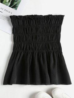Ruffles Smocked Tube Top - Black