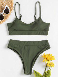 Cami Sporty Bikini Set - Army Green S
