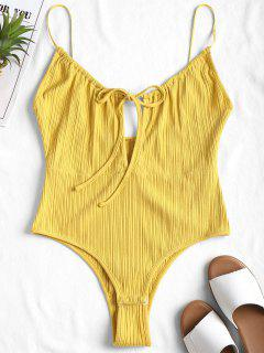 High Cut Cami Bodysuit - Yellow L