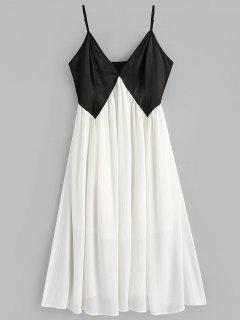 Two Tone Cami Dress - White L