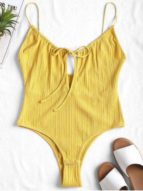 Body de corte alto Cami - Amarillo L Mobile