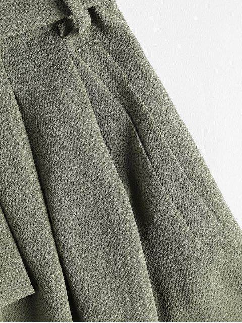 Short Taille Haute Plissé et avec Poches - Vert Cendré M Mobile
