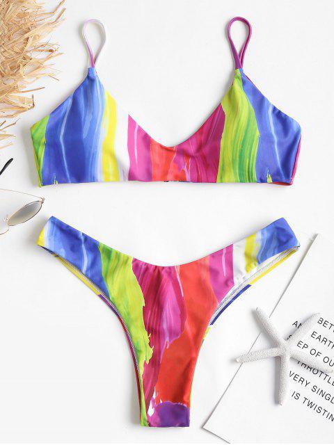 Bikini Jambes Hautes à Peinture D'arc-en-ciel - Multi S Mobile