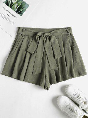 zaful Pockets High Waisted Paper Bag Shorts