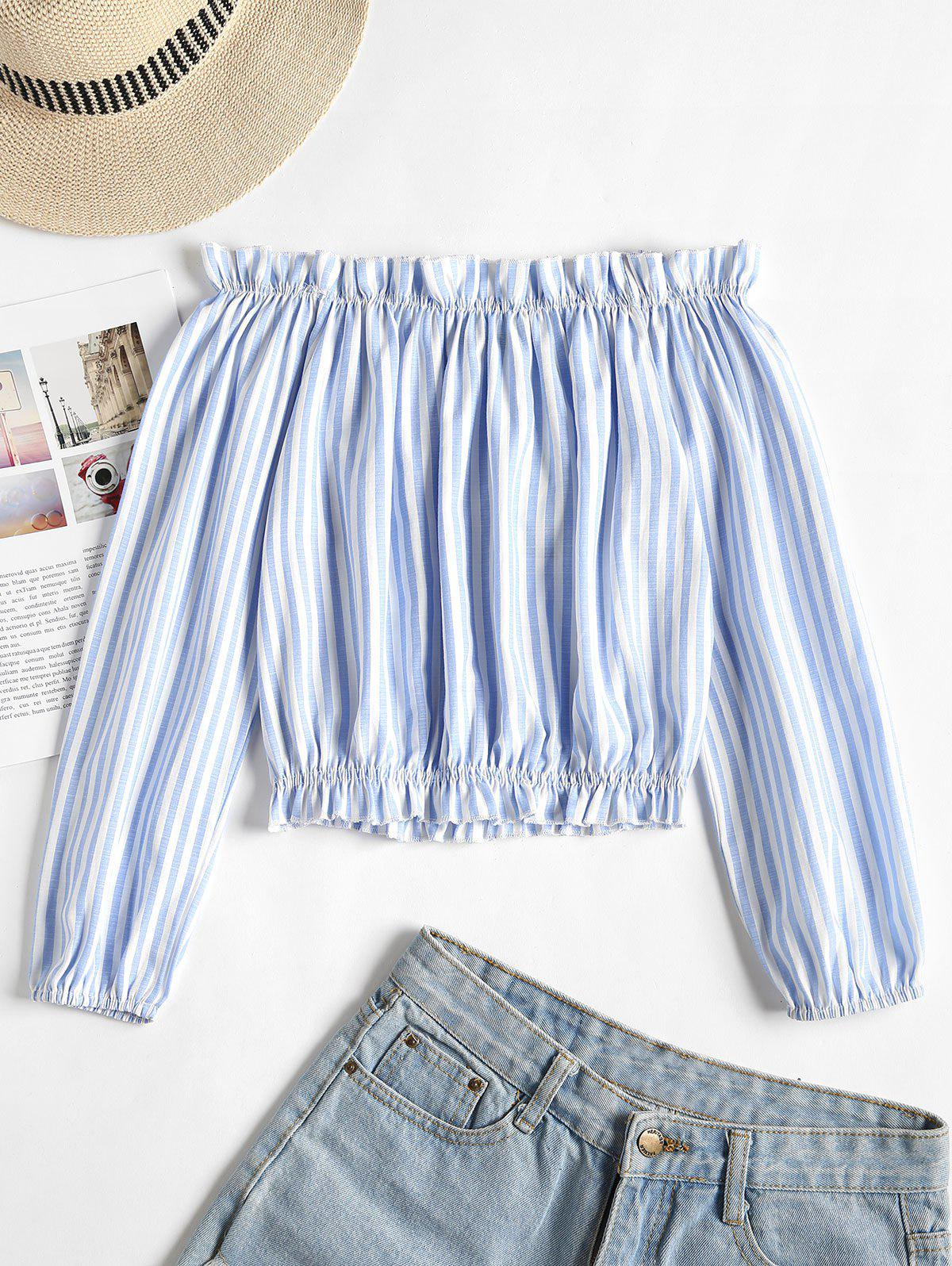 Striped Frilled Off Th