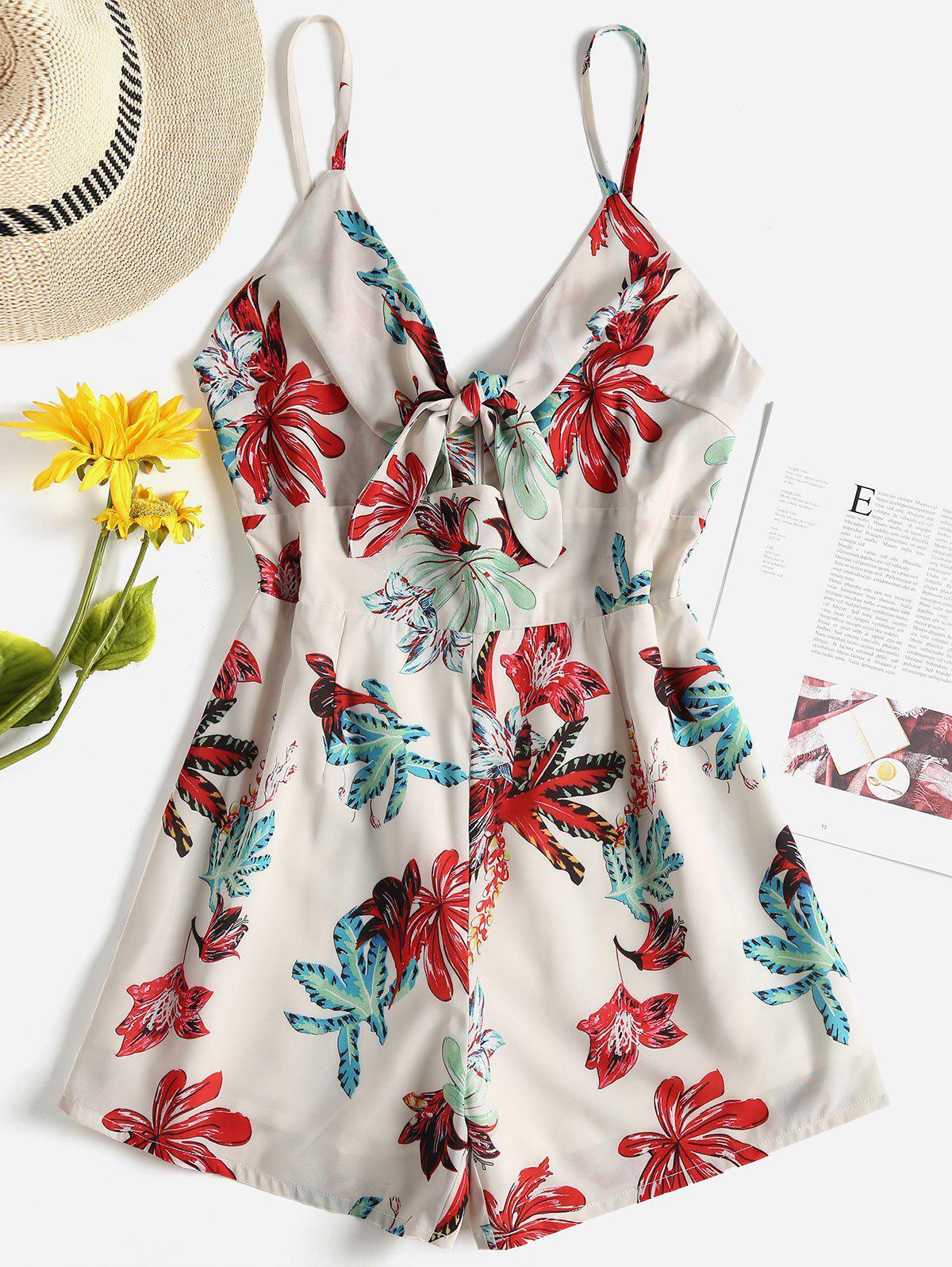 Floral Tie Front Cami