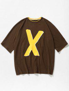 Oscuro S Tono Letras Marr Dos 243;n Con Camiseta De Estampada Bq6OAgP