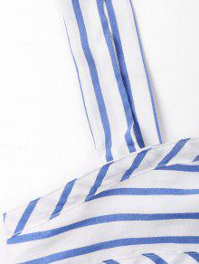 S Stripes Tied Azul Top Claro Tank Front w7OnAqx7Y