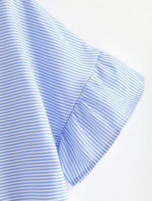 Azul Rayas Anudadas De Camisa Claro S Zgtqn5w