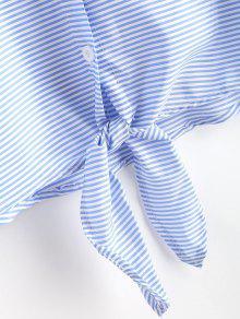 Anudadas Azul Claro Camisa Rayas S De YBP7E