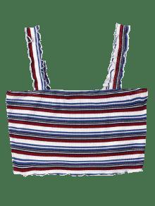Top Stripe Lechuga Multicolor Cami L UapCwqw