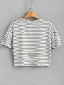 Blanco A Fresa De Rayas Camiseta xZqS1Bw