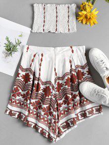 De Pantal Corto De Smocked Corto S Y Blanco Pantal Conjunto 243;n 243;n 58Aqww0x