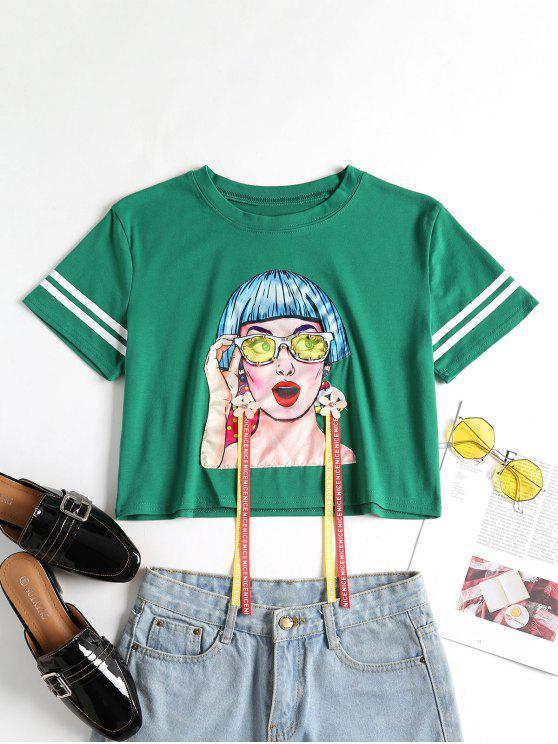 Camiseta con estampado floral - Verde de Pino  XL