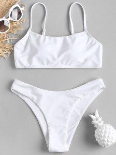 GepolstertHohes Bein Bikinis Set - Weiß L