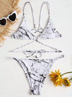 Bikini à Imprimé  - Blanc L