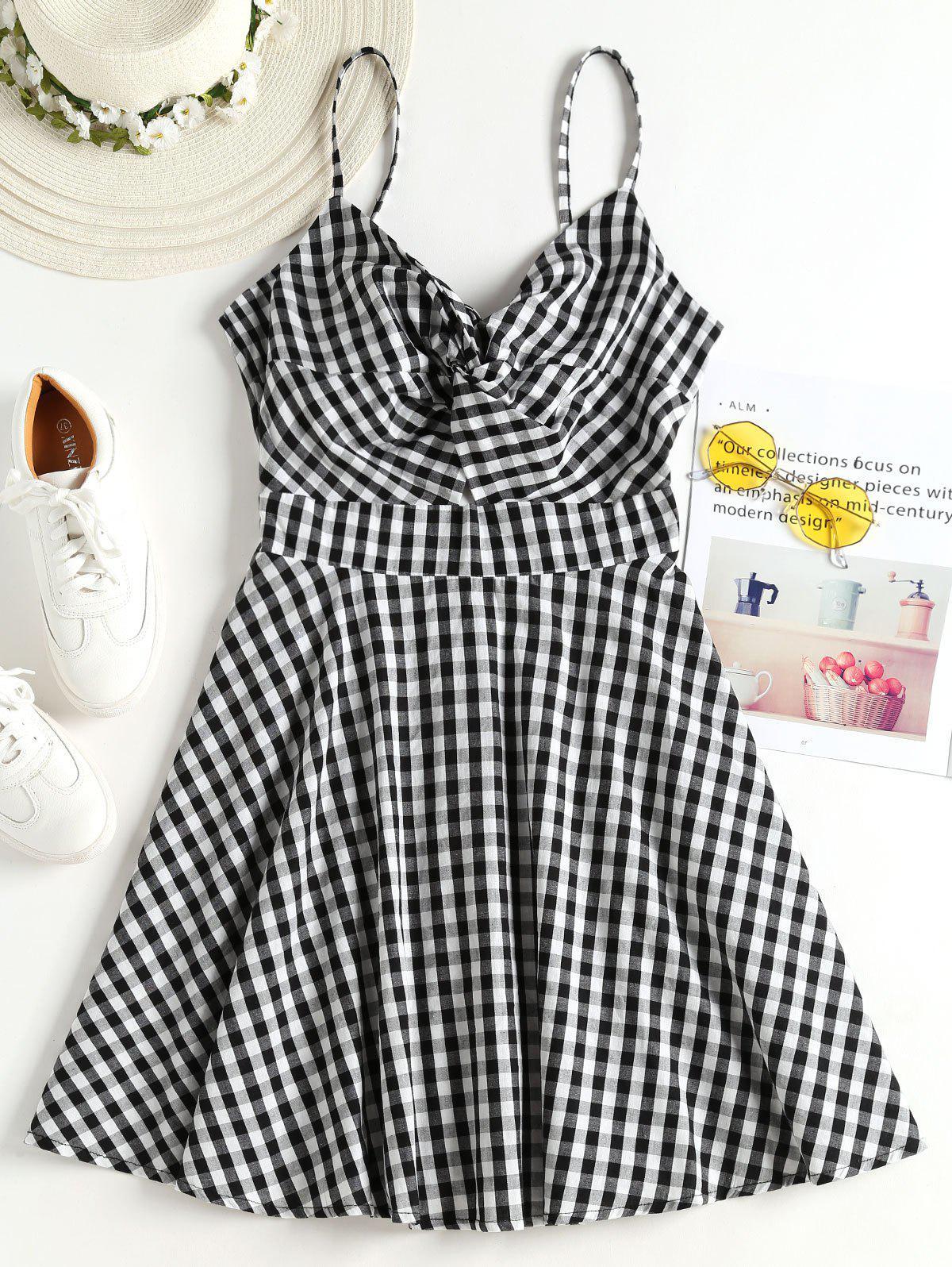 Gingham Twist Cami Dress