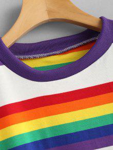 Stripe Multicolor Camiseta Rainbow Extragrande Extragrande Camiseta SxwXq0XrI