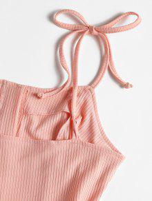 Rosa Acampanado Mini Con Botones Vestido S zwIZR