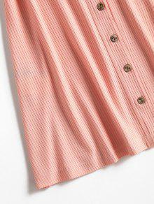 Acampanado S Botones Vestido Con Mini Rosa UXY4H5qcxw