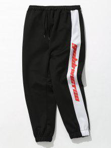 Sidepiece لون كتلة الرياضة السراويل - أسود M