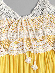 Sol Amarillo De Playa Cami Ganchillo De De Vestido De Panel L P7wq6