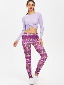 7c5248ff9c0b4 61% OFF  2019 Twisted Long Sleeve Ribbed Crop Top In LAVENDER BLUE ...