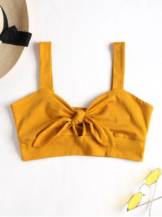 Tie Front Bralette Top - Amarilla de Abeja  L