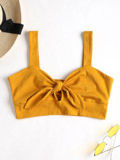 Tie Front Bralette Top - Bee Yellow L